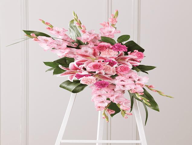 Corona de Flores Moderna Rosada