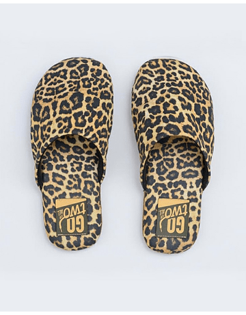 Pantuflas Animal Print Amarillo