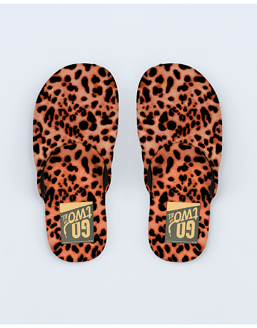 Pantuflas Animal Naranja
