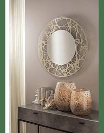 Mirror with Silkscreen Glass Frame