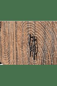 Maui - Armário de Madeira Gravada - Quatro Portas