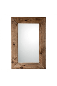Espelho com Moldura em Madeira Reciclada