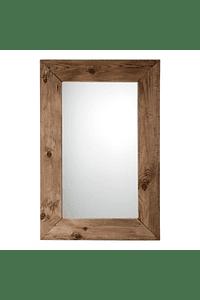 Tribo - Espelho com Moldura em Madeira Reciclada