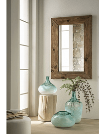 Mirror with Recycled Wood Frame