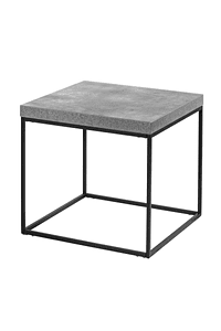 Cement Gray Side Table