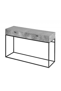 Console with Gray Cement Drawers