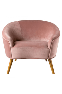 Glam - Fabric and Wood Armchair - Pink