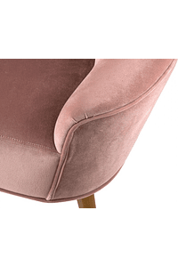 Glam - Fabric and Wood Sofa