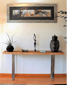 Flair - Console in Solid Wood and Steel