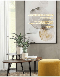 Inout - Oval Table with Brass Details