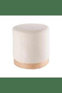 Vita - Puff in Fabric and Wood in Brown