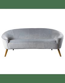 Glam - Fabric and Wood Sofa - Gray