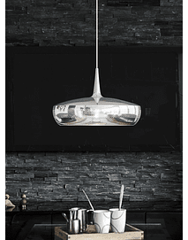 Clava Dine - Suspension Lamp in Polished Steel