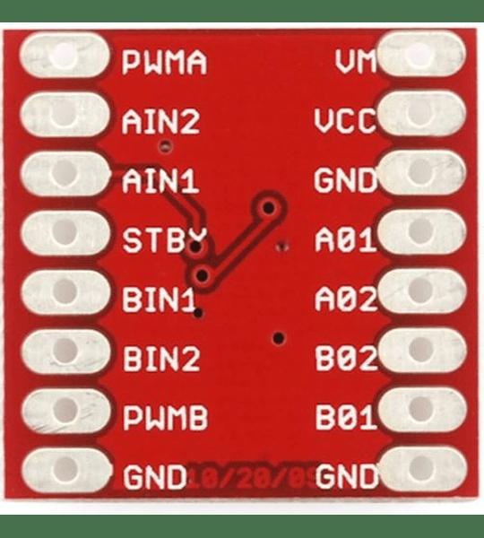 DRIVER TB6612 CONTROLADOR PARA MOTOR (puente H inversor de giro) POLOLU