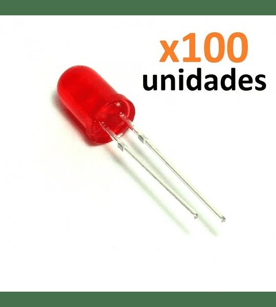 SET 100 LEDS COLOR ROJO 5MM