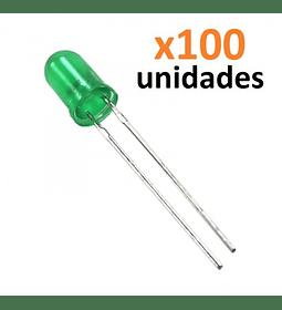 SET 100 LEDS COLOR VERDE 5MM