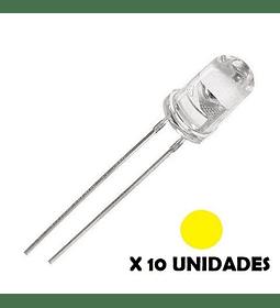 DIODO LED DE CHORRO 5mm AMARILLO 10 UNIDADES
