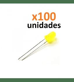 SET 100 LEDS COLOR  AMARILLO 5MM