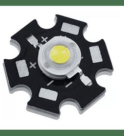 LED DE POTENCIA 3W BLANCO CON DISIPADOR