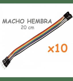 JUMPERS DUPONT MACHO HEMBRA 20CM X10 UNID