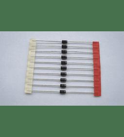 1N4007 Diodo Rectificador 1000V 1.5A paquete 10 Unidades
