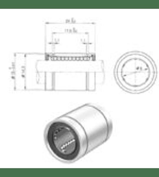 Rodamiento Lineal - LM8UU