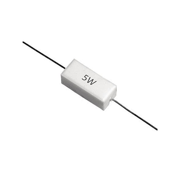 Resistencias de potencia 5 W de 0.1Ω a 10 KΩ