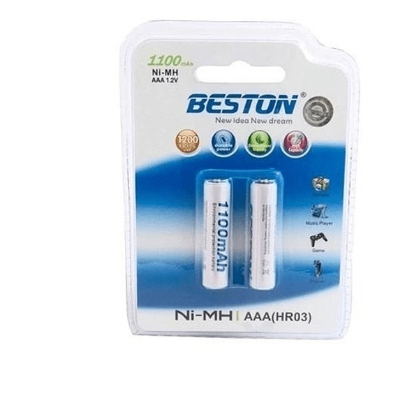 Batería AAA Recargable BESTON  1100 mAh