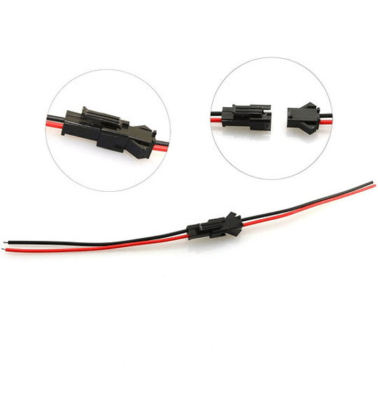 KIT CONECTOR MACHO Y HEMBRA  2PINES  JST-SM