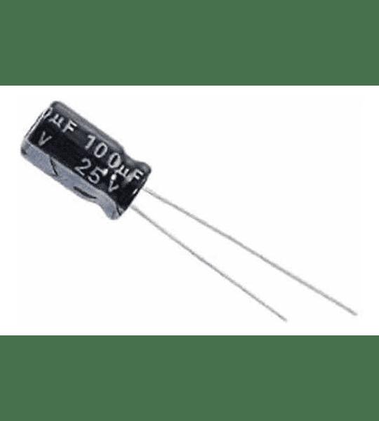 Condensador Electrolítico 100uf 16v - 25v - 50v