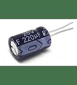 Condensador Electrolítico 220uf  25v - 50v