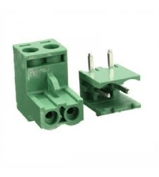 Terminal de bloque bornera enchufable 5.08mm 2P