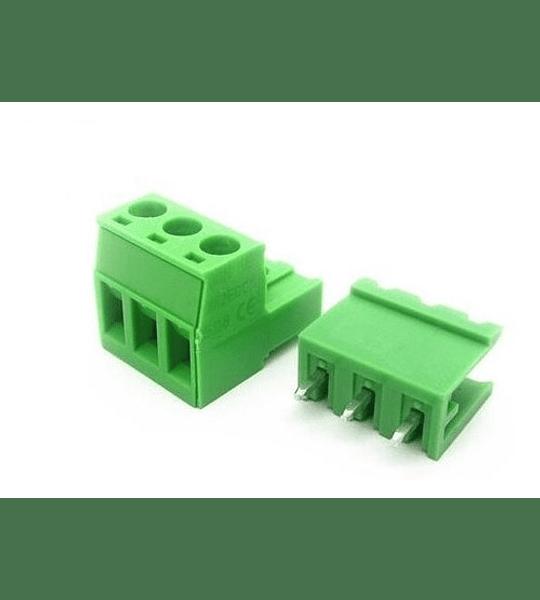 Terminal de bloque bornera enchufable 5.08mm 3P