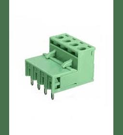 Terminal de bloque bornera enchufable 5.08mm 4P