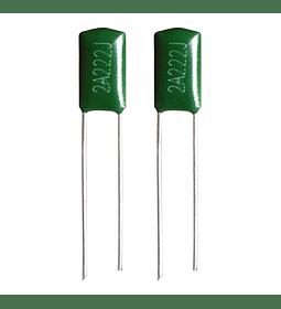 Condensador Poliester 2.2nf 100v