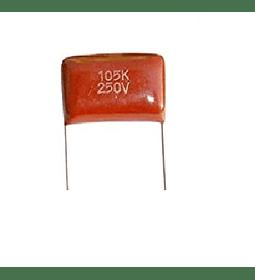 Condensador Poliester 1Uf 250v