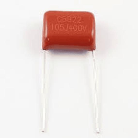 Condensador Poliester 1Uf 400v