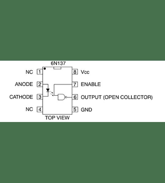 Optoacoplador 6N137 Salida Lógica TTL
