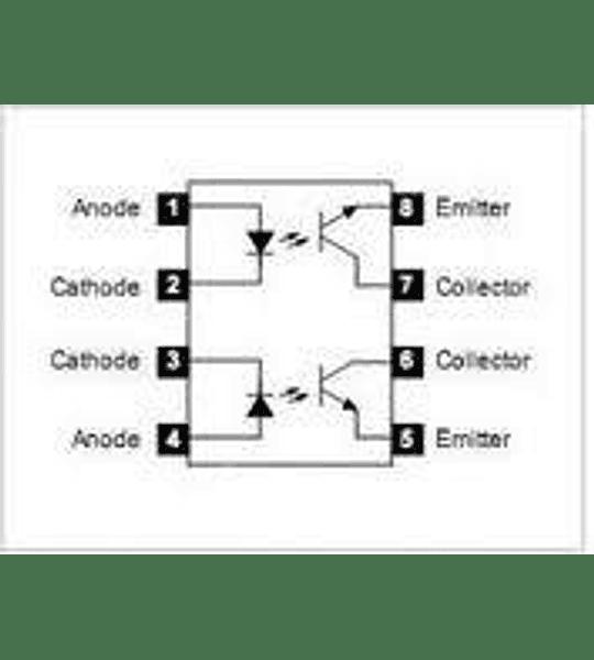 Optoacoplador MCT6 Salida Transistor