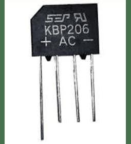 Puente Rectificador KBP206 2 A 600 V