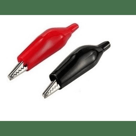 Caiman Pequeño Rojo y Negro Pareja