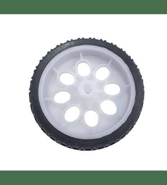 Llanta Robótica 65mm x 15.5mm para Motorreductor Plástico Amarillo