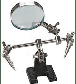 Tercer Brazo - Tercera Mano Ajustable con Pinzas y Lupa