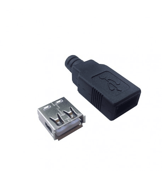 Conector USB Aereo Hembra para Ensamble