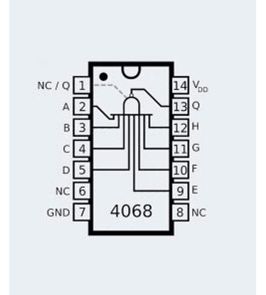 CD4068 CMOS Ocho Compuertas NAND