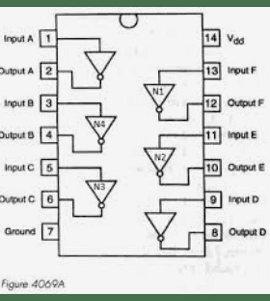 CD4069 CMOS Seis Compuertas Inversoras