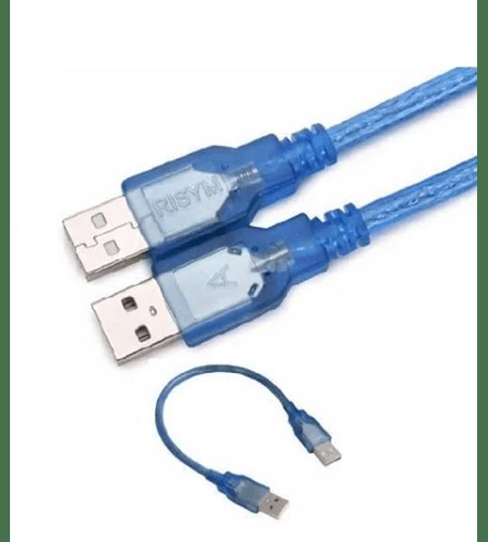 Cable Usb A Usb Macho A Macho Blindado 15cm Desoxigenado