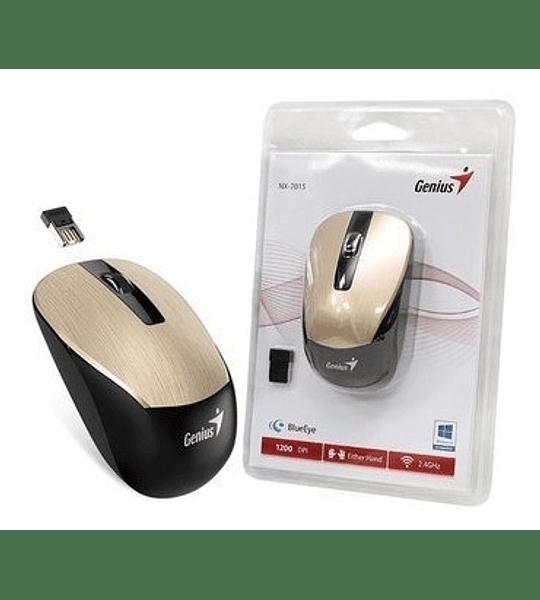 Mouse inalámbrico Genius nx-7015 Dorado