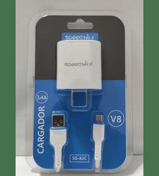 Cargador Carga Rápida Para Celulares  Cable Tipo V8