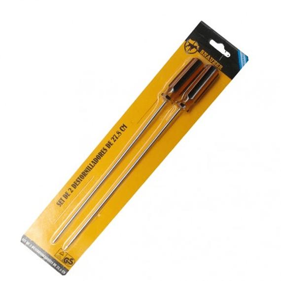 Kit Destornilladores 2 Piezas Estrella-Pala 28cm